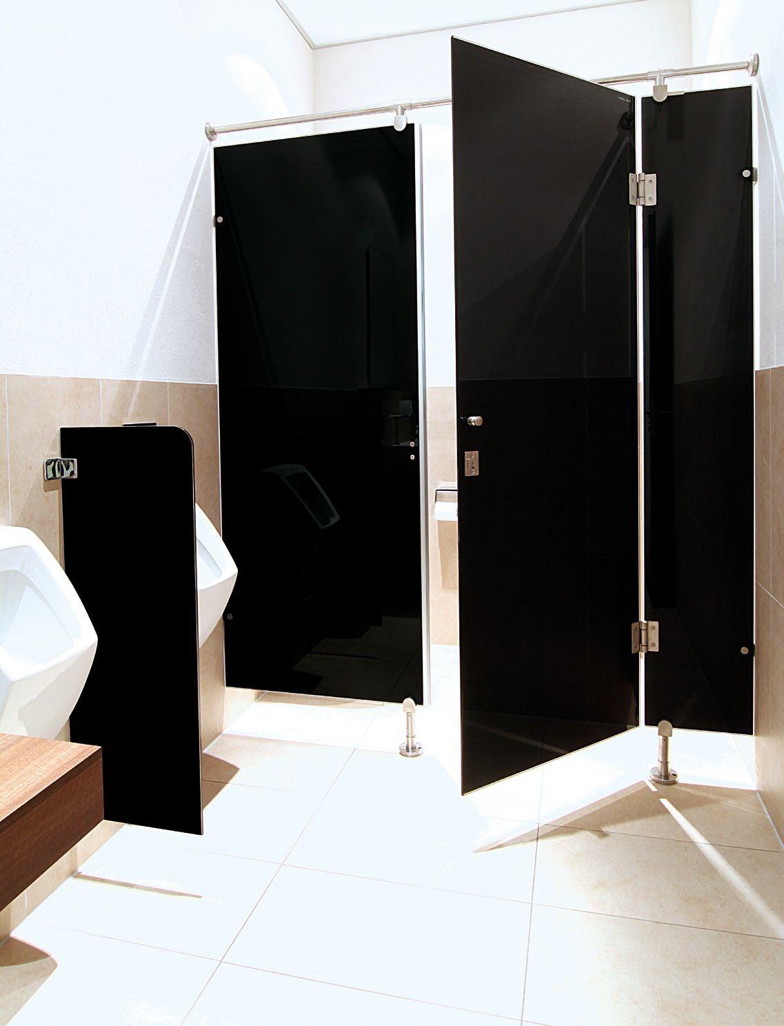 HEILER Glas Trennwandsysteme rahmenlose WC Trennwände, Urinal ...