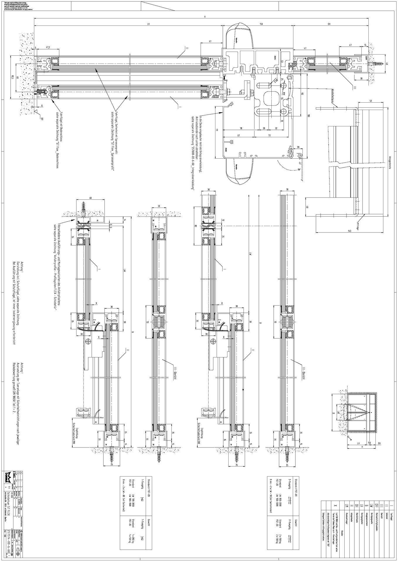 Schiebetür in trockenbauwand detail  CAD-Detail|ST Flex | dormakaba - heinze.de